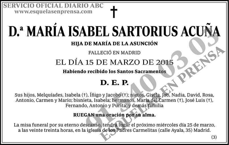 María Isabel Sartorius Acuña